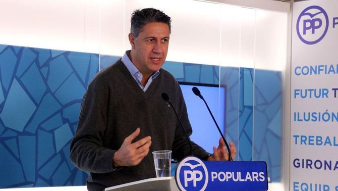 Xavier García Albiol, aquest matí, en una compareixença informativa (ACN)