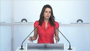 Inés Arrimadas, cap de l'oposició al Parlament de Catalunya