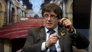 """Puigdemont: """"Hem de buscar les fórmules perquè no hi hagi eleccions"""""""