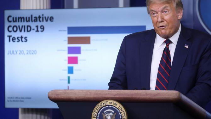 Trump rectifica: ara demana fer servir la mascareta i alerta que la Covid-19 pot empitjorar