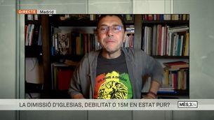 """Entrevista a Juan Carlos Monedero: """"El 15M és la gota que va fer vessar el got"""""""