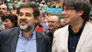 Carles Puigdemont amb Jordi Sànchez quan era president de l'ANC