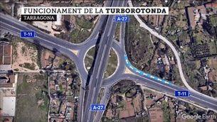 Una turborotonda genera confusió a Tarragona