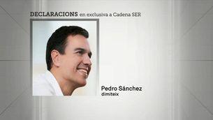 Les paraules de dimissió de Pedro Sánchez