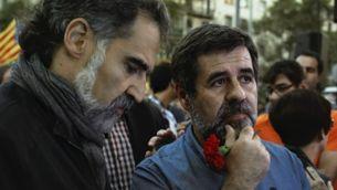 Cuixart i Sànchez durant la jornada del 20S a Barcelona