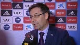 """Bartomeu: """"La derrota no és culpa de l'entrenador"""""""