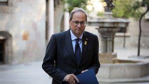El Suprem arxiva la querella de Torra contra la Junta Electoral pels llaços grocs