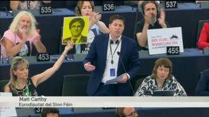 Matt Carthy, del Sinn Féin, reclama a l'Eurocambra que escolti la veu de Catalunya