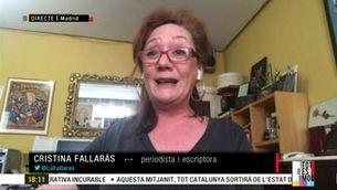 """Cristina Fallarás: """"Felip VI no ha renunciat a l'herència del seu pare, la té sota el cul i es diu tron"""""""