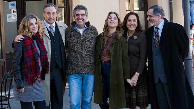 """El director i alguns dels protagonistes de """"Fassman""""."""