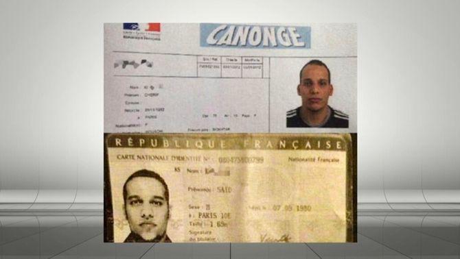 """Qui són els germans sospitosos de l'atac contra """"Charlie Hebdo"""""""