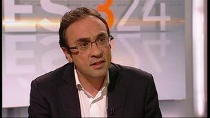 """Josep Rull, durant l'entrevista al programa """"Més 3/24"""""""