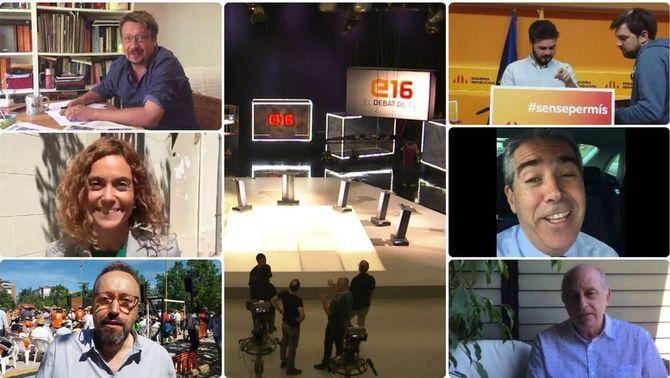 Els candidats expliquen com es preparen el debat de TV3 i què n'esperen