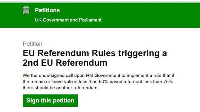 Petició per repetir el referèndum del Brexit