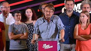 Xavier Domènech, el candidat per Barcelona el 26-J d'En Comú Podem, en roda de premsa