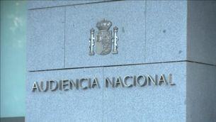 Façana de l'Audiència Nacional a Madrid