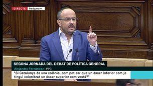 Fernández afirma que el govern prefereix la confrontació al debat parlamentari