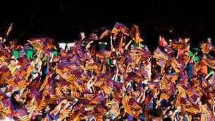 Xiulada a l'himne d'Espanya a Sevilla en la final de Copa entre Barça i València