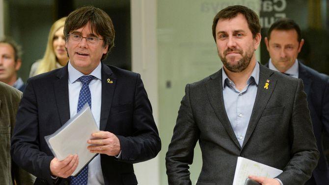 Després de la roda de premsa de Puigdemont i Comín, s'ha sabut que el Parlament Europeu aixecava el veto d'accés a l'Eurocambra per a…