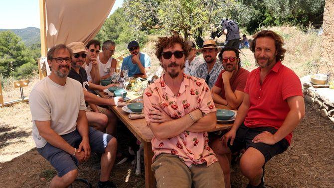 Pla general dels artistes que participen en el rodatge de la gala del festival de cinema de la Terra Alta, l'In-FCTA. Imatge del 4 de juliol de…
