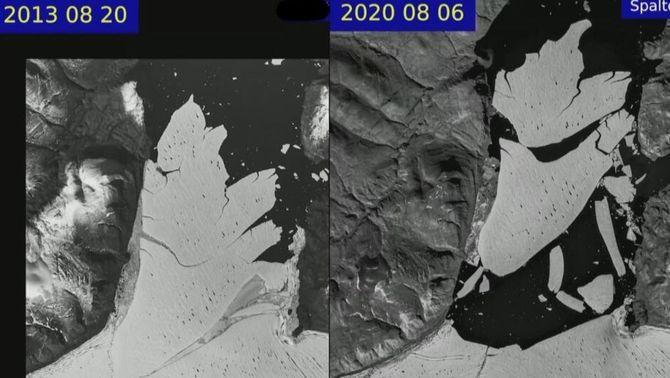El gel àrtic s'ha reduït a la meitat en 40 anys