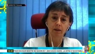 """Imatge de:Glòria Padura, directora del Trueta: """"El 65% de l'ocupació dels llits de la nostra UCI és de pacients Covid"""""""
