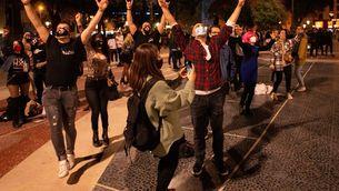 La festa en ple centre de Barcelonas'ha fet amb un perímetre, control d'accés i mesures de seguretat (EFE/Enric Fontcuberta)