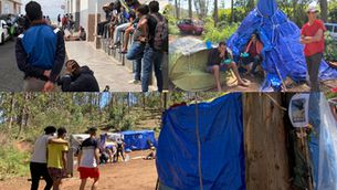 Migrants al camp de Las Raízes de Tenerife