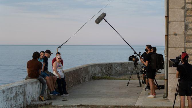 """L'equip durant la gravació de """"Tabús"""""""
