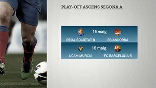 El Barça B jugarà contra l'UCAM Múrcia en l'eliminatòria d'ascens a Segona A