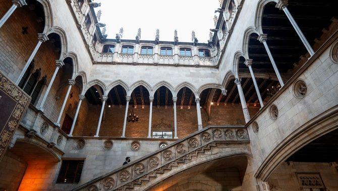 Aragonès, aquest dilluns al vespre al Palau de la Generalitat