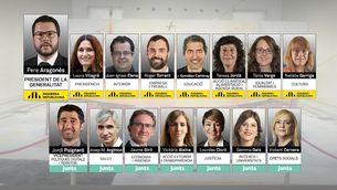 Aquests són els 14 consellers del govern de Pere Aragonès