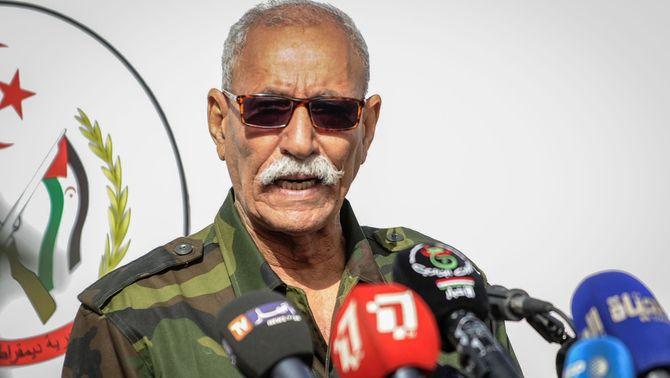 El líder del Front Polisario, Brahim Ghali, el mes de febrer passat a Tindouf