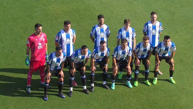 Els jugadors de l'Espanyol juguen el segon partit de la pretemporada