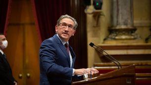 El conseller d'Economia, Jaume Giró, aquest dijous al Parlament