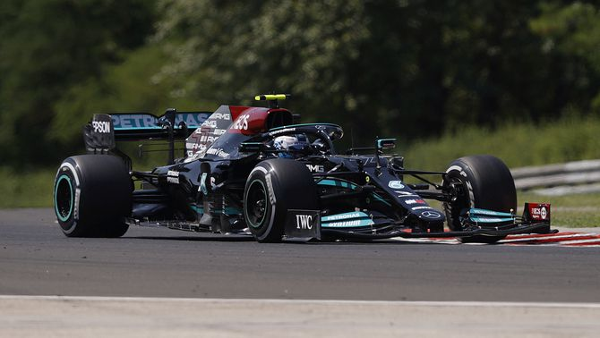 Bottas, durant els entraments del GP d'Hongria (Reuters)
