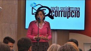 Firma del pacte social contra la corrupció
