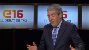 Homs respon una pregunta de l'audiència del debat