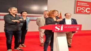 Meritxell Batet, la nit electoral del 26-J a la seu del PSC