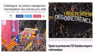 La citació als alcaldes pel referèndum crida l'atenció de la premsa internacional