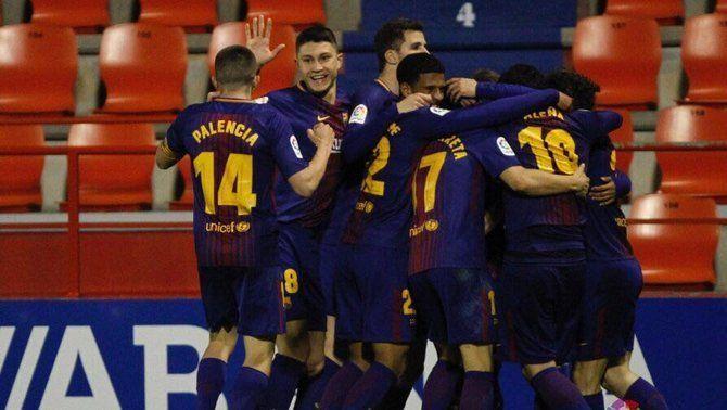 Nahuel, la clau de la victòria del Barça B davant del Lugo (1-2)