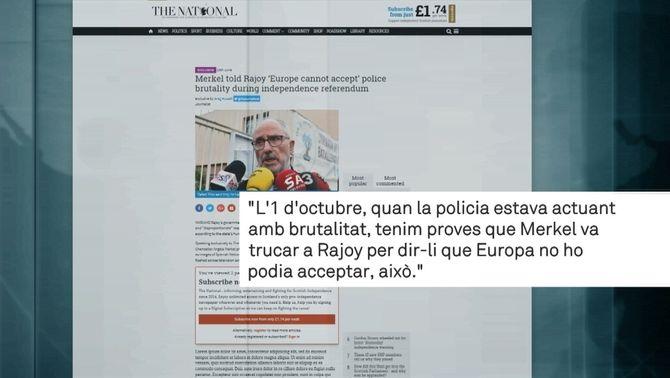 Ribó diu que té proves que Merkel va trucar a Rajoy per frenar la policia l'1-O