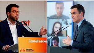 Pere Aragonès i Pedro Sánchez