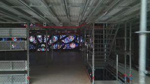 Un dron entra a Notre-Dame per mostrar-ne la reconstrucció