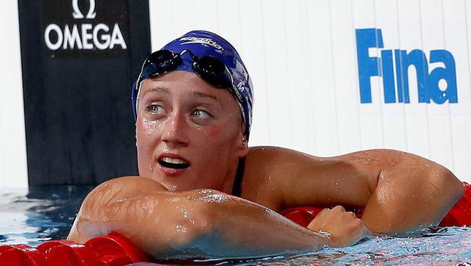 Belmonte acaba quarta als 1.500 m lliures, amb rècord d'Espanya, i or per a Ledecky amb rècord del món