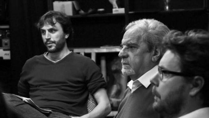 """Pau Miró durant l'assaig del nou espectacle """"Adiós a la infancia, una aventi de Joan Marsé"""". (Foto: Teatre Lliure)"""