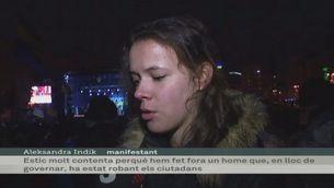 Eufòria a Maidan després de la marxa de Ianukóvitx