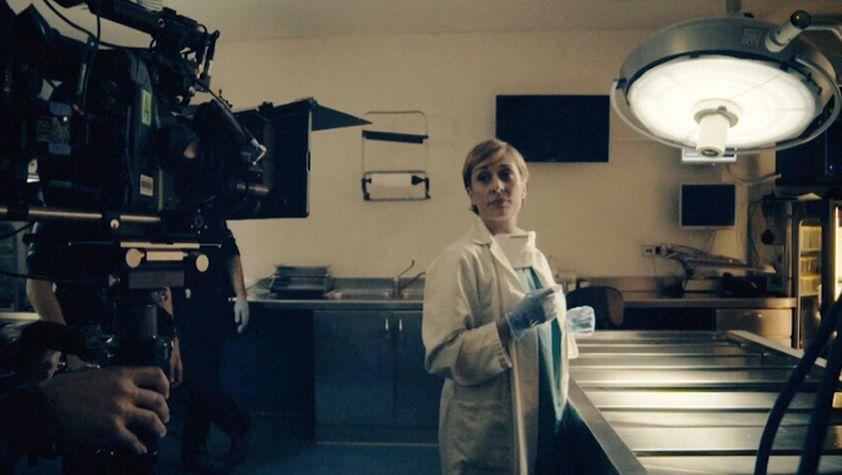 """Clara Segura en un moment del rodatge de """"Nit i dia"""""""