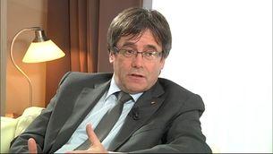"""Puigdemont, durant l'entrevista amb """"El Punt Avui"""""""