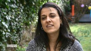 Anna Gabriel entrevistada a la ràdio televisió suïssa, RTS